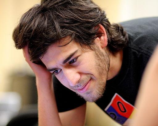 Aaron Swartz à la rencontre Wikipédia de Boston, en août 2009