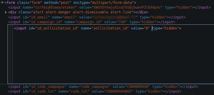 Modification du code HTML